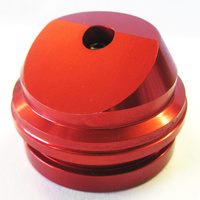 52mm Bladder cap. Angled Red